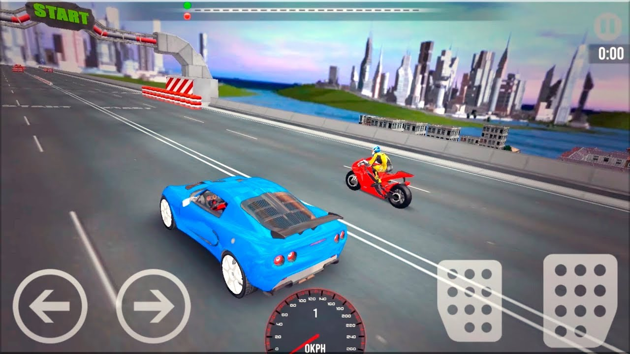 Car Vs Bike Racing Gameplay Android Game Race Game Youtube
