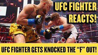 UFC FIGHTER FU*KING LOSES TO A YOUTUBER! *UFC FIGHTER REVIEWS JAKE PAUL vs BEN ASKREN*