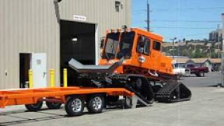 Loading A Tucker  Sno-Cat For Transport