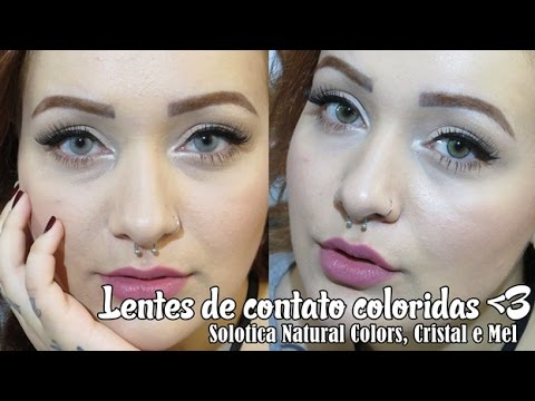 f430c3a1bb5d0 Lente de contato colorida sim!   Solotica Natural Colors - Cristal e Mel -  YouTube