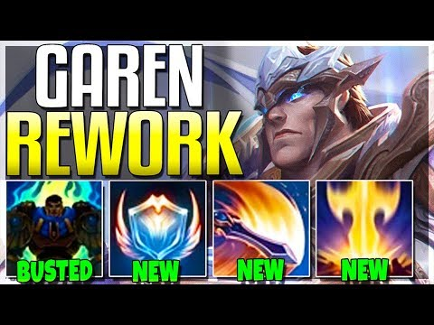 So Riot Reworked GAREN.. And It's SO GOOD NOW!!! - Garen Rework Gameplay - League of Legends