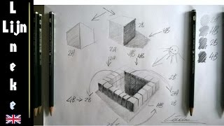 Basic drawing and shading - the use of 2H HB 2B and 4B graphite pencil