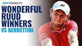 Wonderful Casper Ruud Winners v Berrettini!