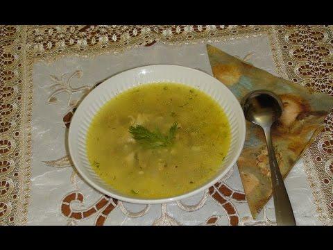 Куриный суп с  черноглазой фасолью