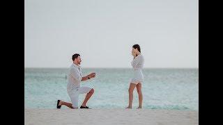 o pedido de casamento em aruba