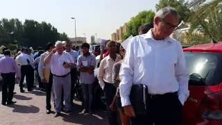 People waiting in a long queue outside the Chinese Consulate in Dubai 08.06.2016