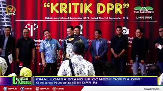 """LIVE  STREAMING - Final Lomba Stand Up Comedy """"Kritik DPR 2019"""""""