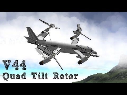 V-44 Quad Tilt Rotor - Kerbal Space Program