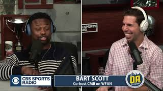 """Bart Scott says """"dumb"""" Charlie Frye extended his career I The D.A. Show"""