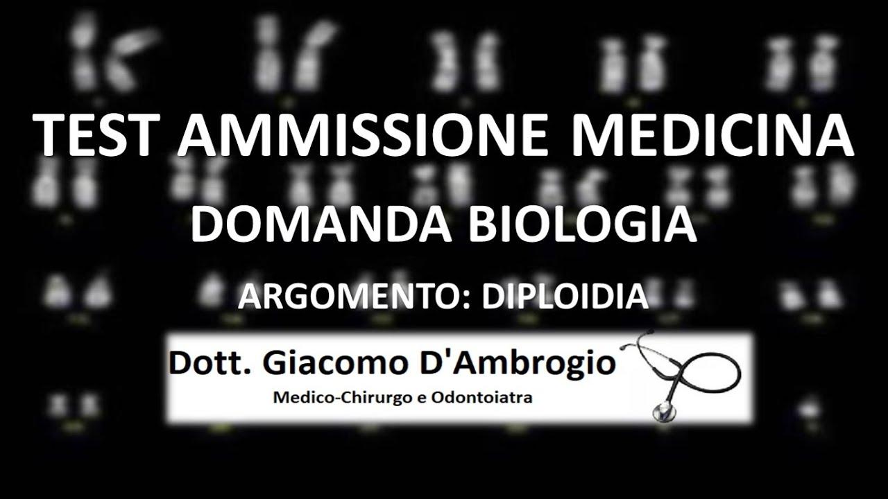 Domanda Diploidia Test Ingresso Università (Medicina)