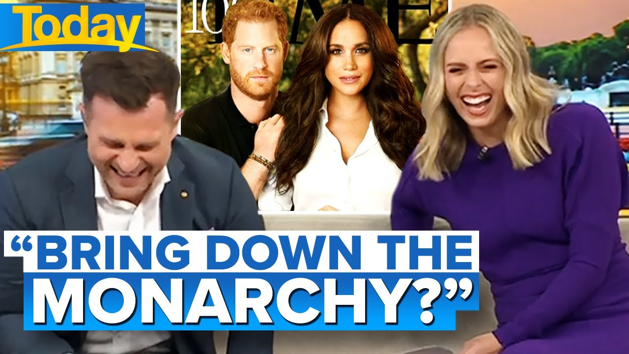 Download Aussie hosts can't take Harry and Meghan's Time cover seriously | Today Show Australia