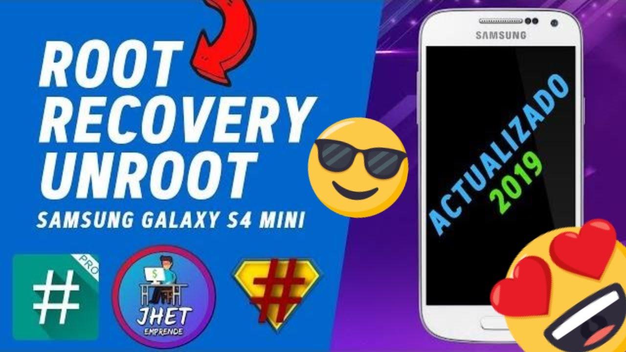 How to root samsung galaxy s4 mini gt i9192 - Root Recovery Unroot Cualquier Samsung Galaxy S4 Mini I9190 I9192 I9195 I9195l Explicado Youtube