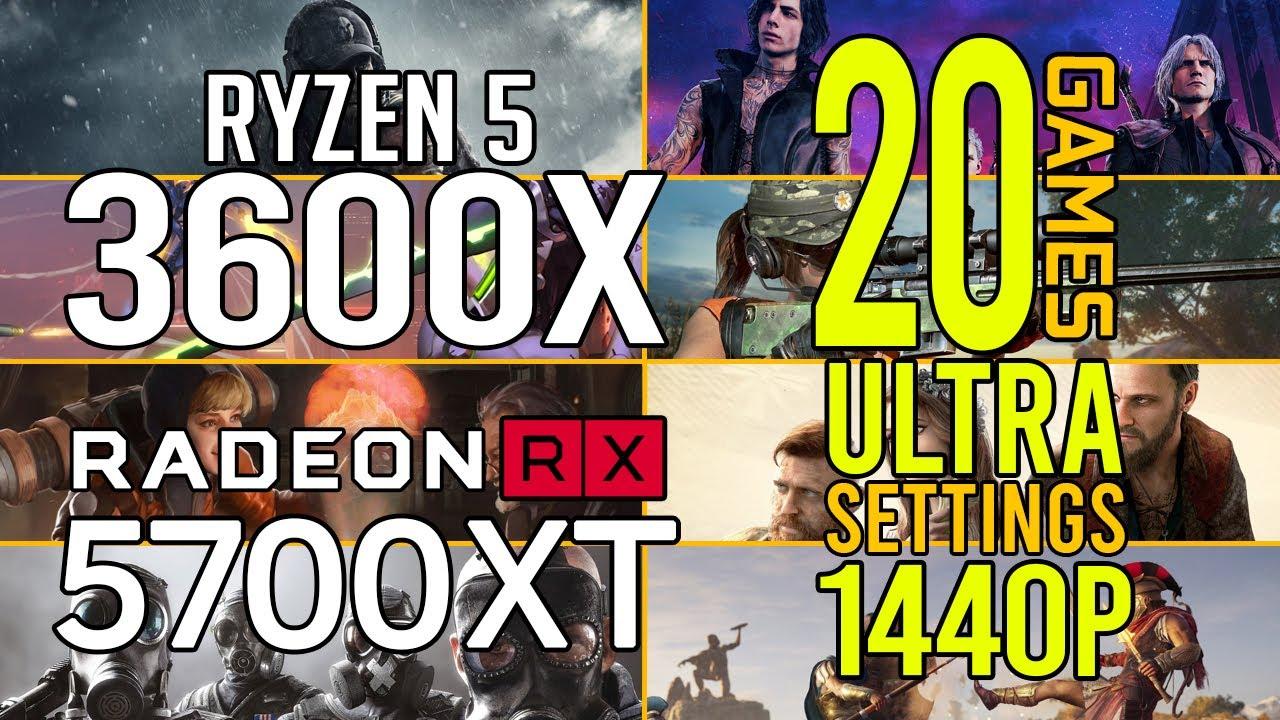 Ryzen 5 3600x + RX 5700 XT in 20 games ultra settings 1440p benchmarks!