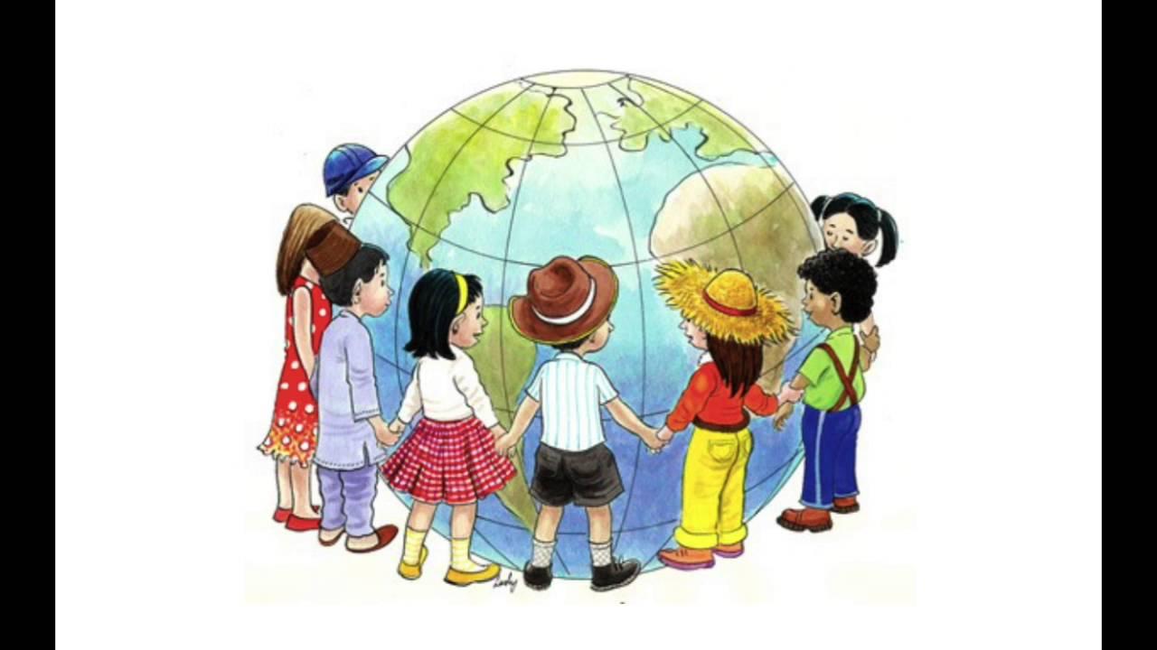 vi er barn fra forskjellige land tekst