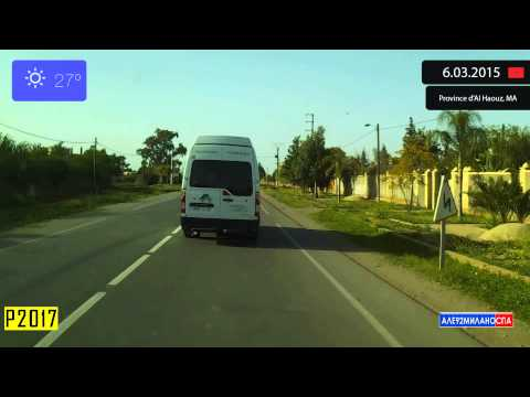 Driving through Province d'Al Haouz (Morocco) from Ourika to Douar Bou Azza 6.03.2015 Timelapse x4