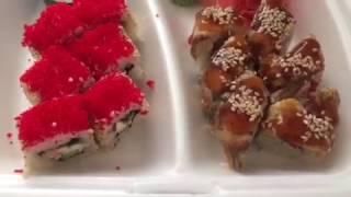 ASMR eating Apple pie with caramel / Shawarma / Sushi/ АСМР еда - Яблочный пирог / Шаурма / Роллы