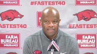 Mike Anderson Previews Auburn, discusses loss to MSU