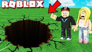 WE FALL TO THE HOLE WHICH HAS 1 MILLION METERS IN ROBLOX! | Vito and Bella