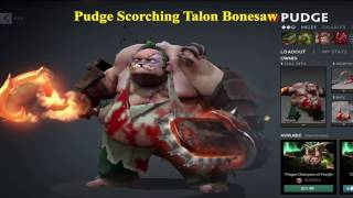 Review Pudge Scorching Talon and Bonesaw - Dota 2 Mod