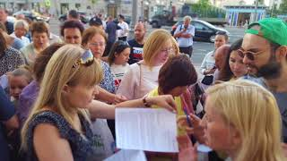 26.06.2018 Фоторепортаж: дольщики ЖК Царицыно у ПМ.