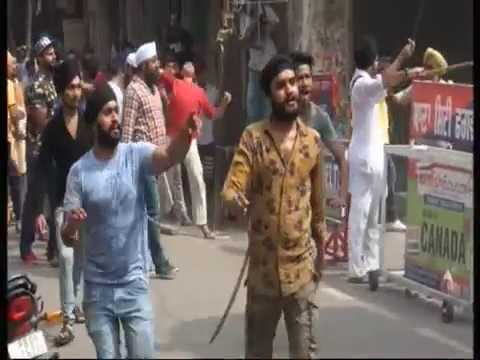 phagwara clash shiv sena and muslims live shots