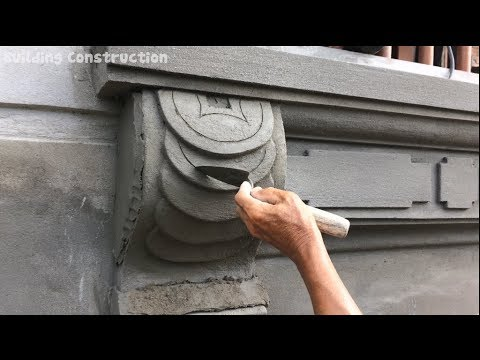Beautiful Construction Design - Skills Rendering Sand And Cement On Wall Ingenious