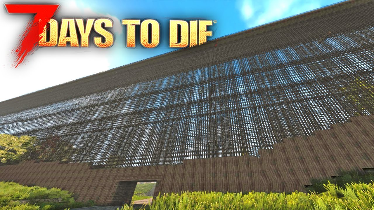 7 Days To Die Building The Best Base Defenses 7 Days To Die Starvation Mod Youtube