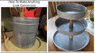 DIY Galvanized Metal / Steel - Farmhouse Decor