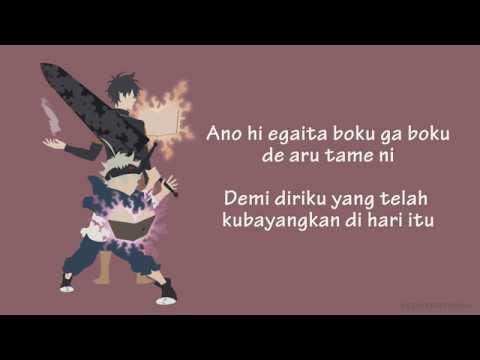 Black Clover Opening 1 [Kankaku Piero - Haruka Mirai] (Lyrics + Bahasa Indonesia Sub)