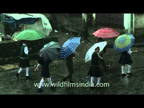 An umbrella every day if you live in Cherrapunji