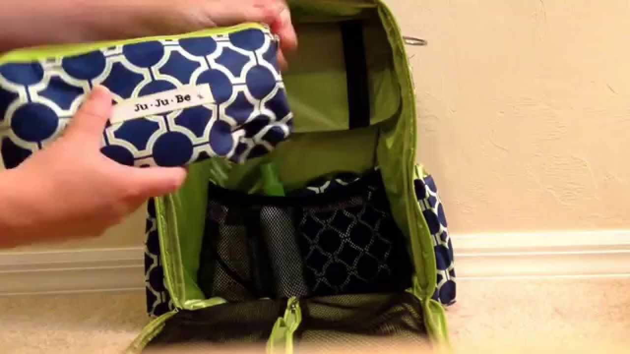 1ce3f68f15d3 How I organize my ju ju be - be right back backpack in royal envy - YouTube