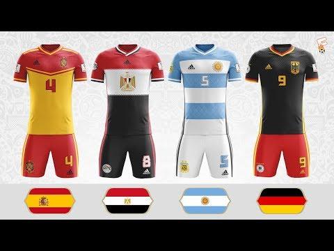 World Cup 2018 Flag Kits ⚽ 32 Stunning World Cup Flag Kit Concepts ⚽ Footchampion