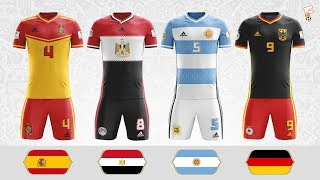 World Cup 2018 Flag Kits ⚽ 32 Stunning World Cup Flag Kit Concepts ⚽ Footchampion