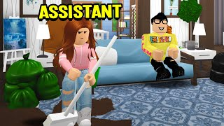 I Became My Boyfriend's Assistant For 24 HOURS! (Roblox Bloxburg)