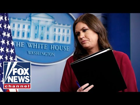 Live: White House press briefing with Sarah Sanders
