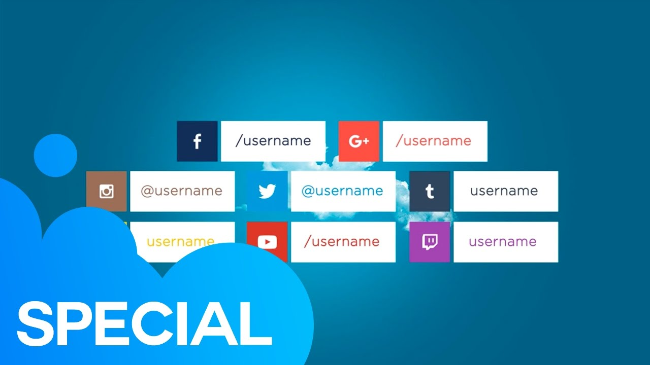 Social Media Lower Thirds After Effects Template YouTube - Purchase after effects templates