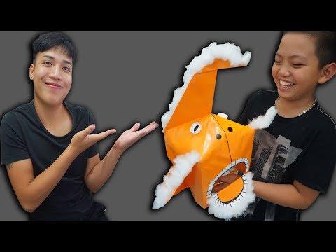 NTN - Thử Làm Đầu Lân Bằng Giấy Tặng Tò Văn Thành ( How to fold the lion head with paper )
