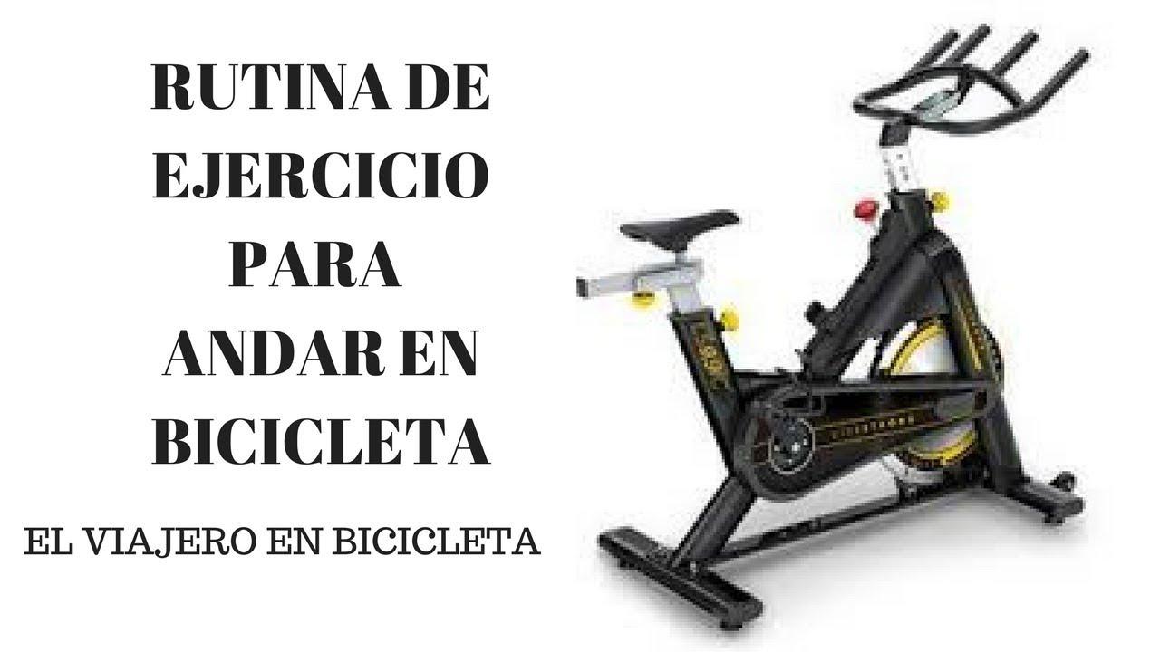 Rutina para adelgazar en bicicleta fija