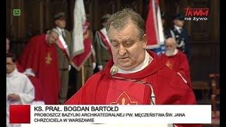 Transmisja Mszy św. z Bazyliki Archikatedralnej w Warszawie