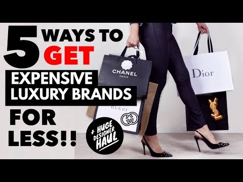 5 WAYS TO GET EXPENSIVE LUXURY BRANDS FOR LESS + HUGE DESIGNER HAUL! Ft. GUCCI, CHANEL, DIOR & More