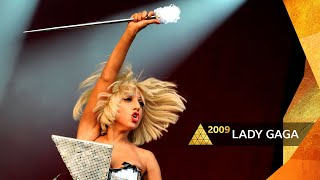 Lady Gaga - Poker Face (with crazy long intro) (Glastonbury 2009)