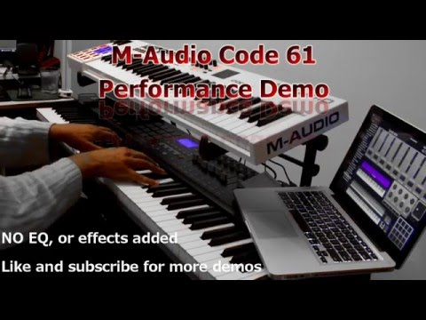 M-Audio Code 61 Performance Demo