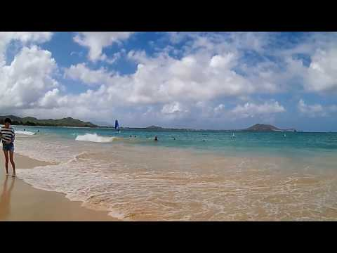 Kailua Beach, Great Family Beach on the Island of Oahu, Near Honolulu, Hawaii