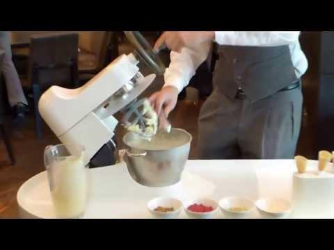 Liquid nitrogen ice cream at Dinner by Heston Blumenthal