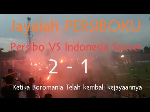 Persibo 2 vs 1 Indonesia Soccer menyanyikan JAYALAH PERSIBOKU Curva Nord