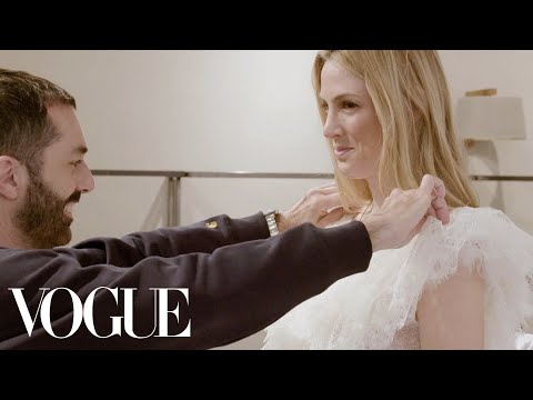 How Giambattista Valli Created Selby Drummond's Fantasy Wedding Dress | Vogue