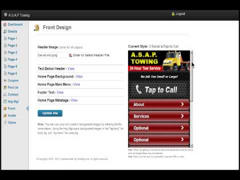How To Build A Mobile Web Site Using myMobi Admin Site Manager