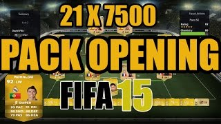 fifa 15 ultimate team pack opening 21 x 7500 packs wtf xbox one german hd