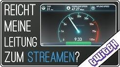Reicht meine Leitung zum Streamen? | Wieviel Upload zum Twitch Streamen? | Twitch Hitbox Steam