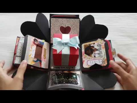 EXPLODING BOX | ROMANTIC B'DAY GIFT FOR FIANCÉ ♡